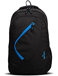 Lunar's Comet 35L Water Resistant Casual Backpack - 3 Compartments, Anti - Theft Internal Organiser, 1 Year Warranty (Black and Blue)