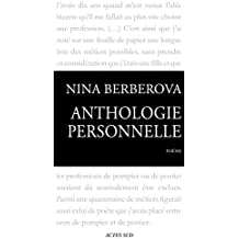 Anthologie personnelle 1921-1983