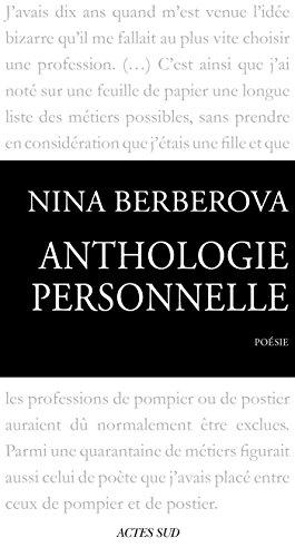 Anthologie personnelle 1921-1983 par Nina Berberova