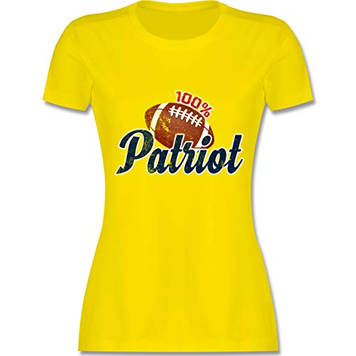 American Football - 100{ffb58d12a9ba870bcc971685b6958c7e73cc84cc8bac5c4743f6a5a88b0dea17} Patriot - S - Lemon Gelb - L191 - Damen Tshirt und Frauen T-Shirt