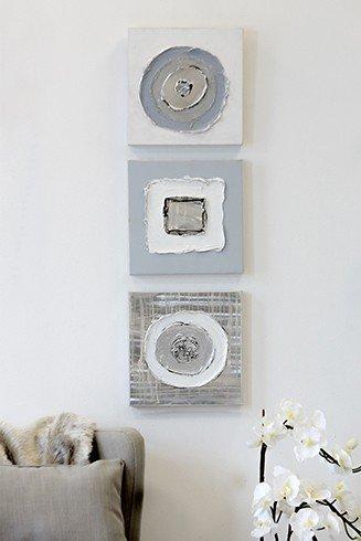 Wandbilder 'Geometrical', 3-teiliges Set, 30 cm, mehrfarbig