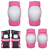 STZSHION Pad Palma Ginocchiera Gomito Set Pattino Pattini di Rullo Pattinare Ingranaggio Bambini Protettivi Indumenti di Protezione 6 Insiemi (Color : Pink, Size : M)