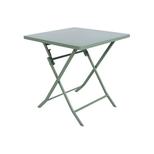 Lafuma Table de jardin carrée, 68 x 64 cm, 2 places, Pliable ...