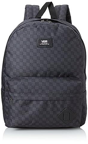 Vans Herren Rucksack M Old Skool II Backpack, grau (schwarz/Charcoal kariert), 42.5 x 32 x 12.5 cm, 22 Liter, (Herren Rucksäcke)
