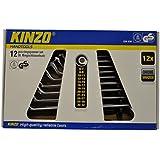 Kinzo - Llave doble acodada (12 unidades, 6-32mm)