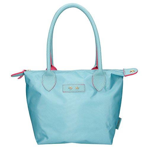 Depesche 10088 - Trend Love Handtasche, türkis, ca. 31 x 21 cm