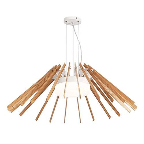 Illuminazione a sospensione a soffitto in legno a led industria semplice creativo per l'arredo di uffici (colore: a)