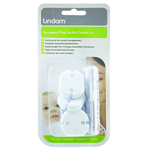 Lindam European Plug Socket Cover - Cache-prise X 4