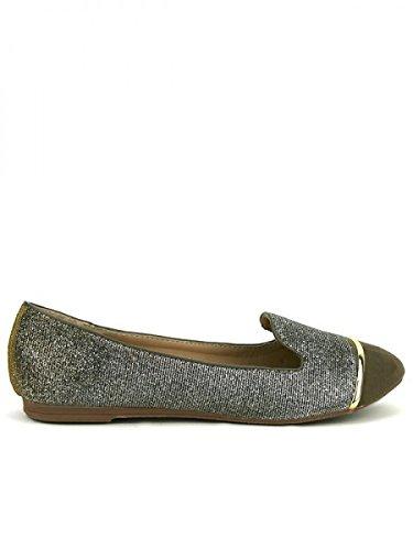Cendriyon, Ballerine Paillettée Bronze JOLINA Chaussures Femme Bronze
