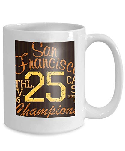 Kaffee-Haferl Tee Cupprinting Design Typografie Sommer Abzeichen Applique Label San Francisco Sport Zeichen 110z (Maker Portable Label)