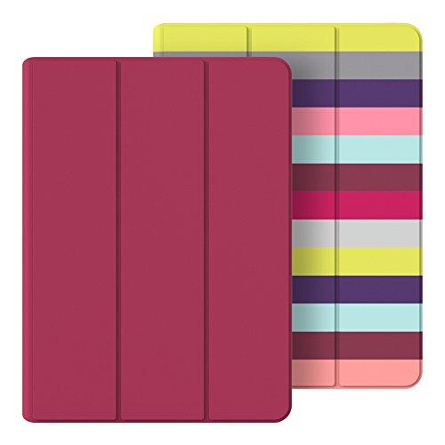 Belkin F7N313btC00 Reversible Cover, zweiseitig nutzbare Schutzhülle mit Standfunktion für Apple iPad Air 2 pink/bunt gestreift