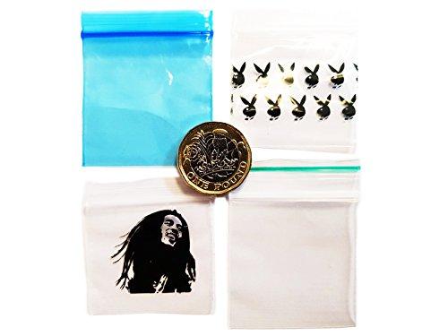1000, Kunststoff, 40x 40, kleine Ziplock Baggies Bob Marley, Playboy Hase in der Hand, Kunststoff, mit Reißverschluss, Griff mit Baggys Baggies Verpackungsmaterial verschiedene Designs Bob Marley