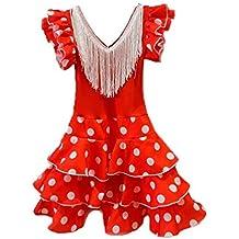 DISBACANAL Vestido andaluza para niña - Único, ...
