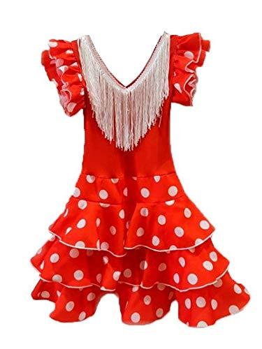 DISBACANAL Vestido andaluza para niña - Único, 12 Meses