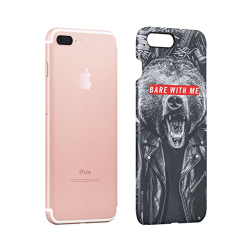 Wild Lion Inked Naked Tattoo Girl Custodia Posteriore Sottile In Plastica Rigida Cover Per iPhone 7 & iPhone 8 Slim Fit Hard Case Cover Bare With Me