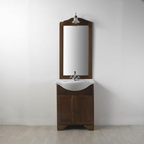 Mobile bagno salvaspazio completo da cm 65 arte povera
