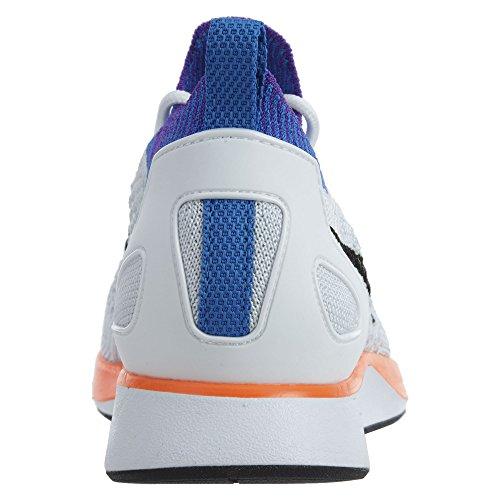 Nike Air Zoom Mariah Flyknit Racer, Scarpe da Ginnastica Donna Arancione-Bianco-Azzuro