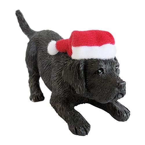 Sandicast Große Life Größe schwarz Labrador Retriever Skulptur, schwarz, Ornament -