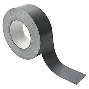 Panzer-band 50-m x 48-mm (1 Rolle) Gaffa Tape Rolle Duct Klebe-band Panzer-tape Gewebe-Klebeband Steinband Silber Grau Profi Gewebe-band Ultra Strong Allzweckband Allzweckklebeband