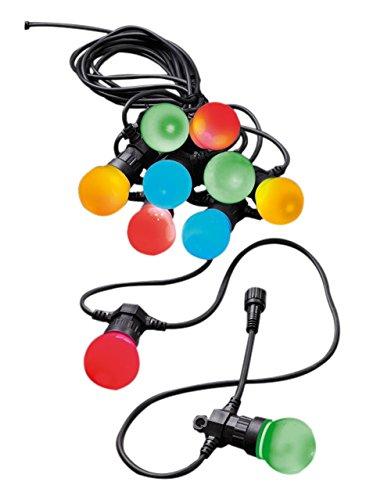 310023 LED Party Lichterkette inklusiv Trafo, Innen- und Außenbeleuchtung, 20-teilig bunt