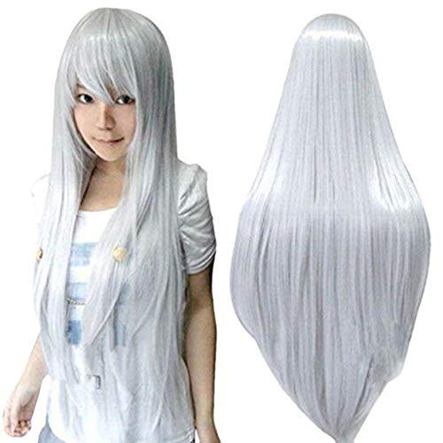kashyk Damen Perücken, lang Glattes Haar, Mode Natur Hitzeresistente Kunsthaar,Haarersatz Cosplay Perücke, Ostern Perücke85CM