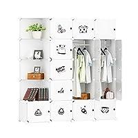Cubic Closet, White - H 183 cm x W 147 cm x D 47 cm