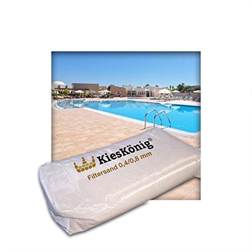 Kieskönig Filtersand für Poolfilteranlagen Sandfilteranlage Quarzsand 0,4/0,8 mm 10 kg (2 x 5 kg Sack)