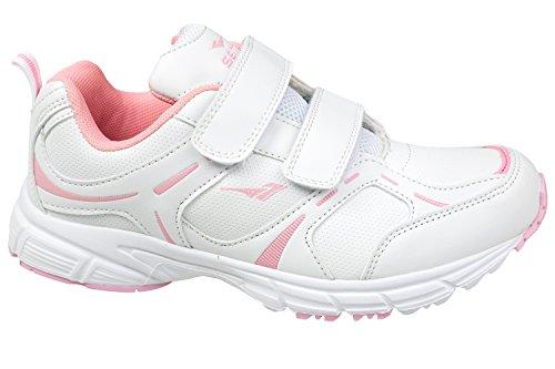 GIBRA® Damen Sportschuhe mit Klettverschluss, weiß/rosa, Gr. 36-41 Weiß/Rosa
