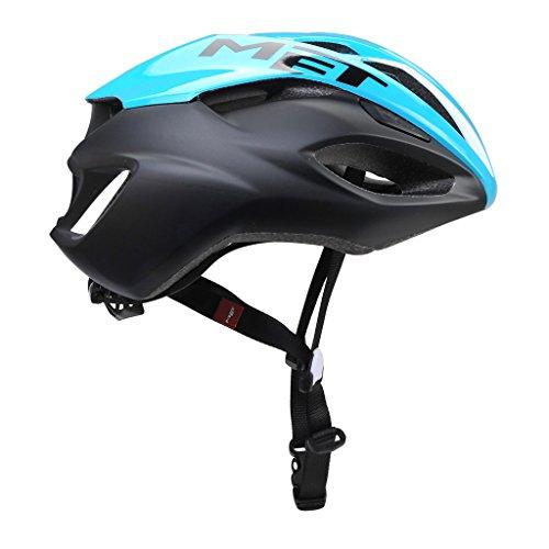 MET M3HM103L0CN1 Helm, Unisex volwassene, cyaan / zwart, 59-62