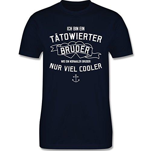 Bruder & Onkel - Ich bin ein tätowierter Bruder - Herren Premium T-Shirt Navy Blau