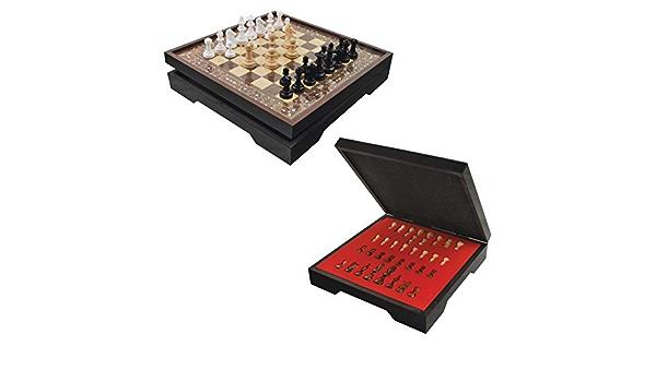 Unknown Staroyun Staroyun1050422 39 5 X 39 5 X 8 Cm Big Walnut Star Vip Chess Set Spielzeug