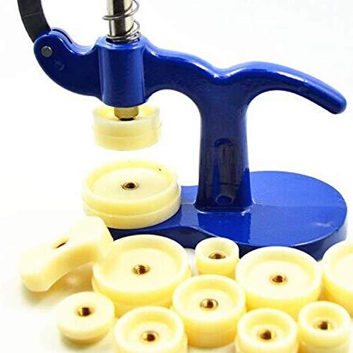 Lawei - Juego de herramientas de reparación de relojes con 12 troqueles, 18 mm - 50 mm