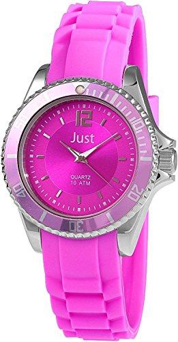 Just Watches 48-S3861-PI - Orologio da polso da donna, cinturino in caucciù colore fucsia