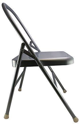 Yoga Mad verstärkter Yoga-Stuhl, klappbar, Silberfarben Preisvergleich
