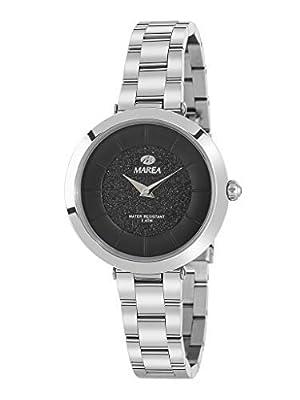 Reloj Marea Analógico para Mujer B54137/2 con Esfera Negra de Purpurina