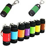 KABEER ART High-Powered Waterproof Mini USB Led Portable Pocket Torch Key Ring, Built In USB (Color May Vary)