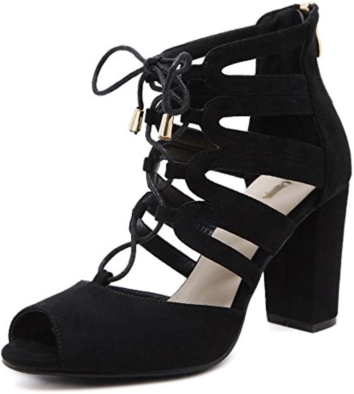 ZPFFE Zapatos Romanos De Tacones Altos Tiras Sandalias De Tacón Bloque Atractivo Para Las Mujeres Se Visten Los...