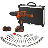 BLACK+DECKER BDCDD12BAFC-QW Perceuse visseuse sans fil - 12 V - 1,5 Ah - 2 batteries...