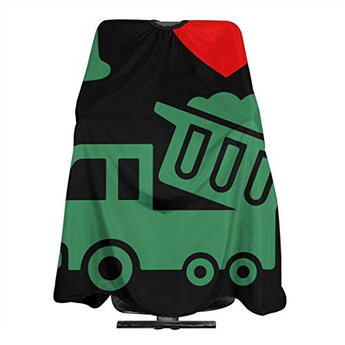 Katze Kostüm Liegende - I Love Trash Trucks Friseurschürze, professionell, für Friseursalon, Friseurwerkzeuge, Tuch zum Schneiden von Haaren, 5566 Zoll