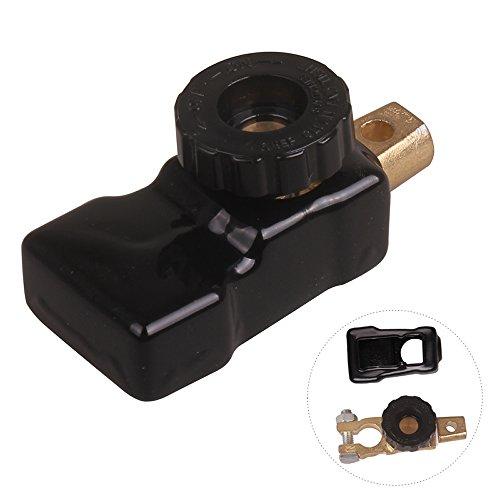 Preisvergleich Produktbild Universal Akku Schalter Schneller Top Mount Knopf Cut Off Master Kill Terminal Adapter DC 12V 24V mit hitzebeständig PVC-Abdeckung für Auto Motor Kfz LKW Boot von hitcar