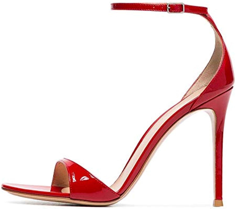 Elegante Vernice Sandali Tacco Alto Moda Punta Tonda,MWOOOK-520 Tonda,MWOOOK-520 Tonda,MWOOOK-520 Donna Peep Toe Festa Sandali Dress Scarpe col... | Affidabile Reputazione  f54295