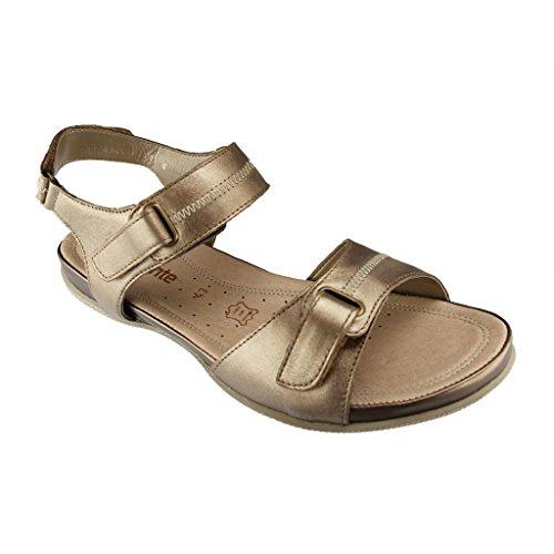 Remonte Dorndorf R7450sandali da donna–oro scarpe in taglie forti Gold