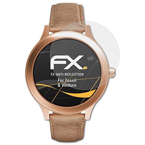 atFoliX Panzerfolie kompatibel mit Fossil Q Venture Schutzfolie, entspiegelnde & stoßdämpfende FX Folie (3X)