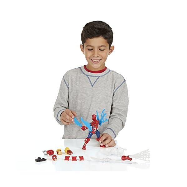 Marvel - Superhéroe mashers - Ataque de Spider-Man - Rayo Miniatura Ensamble Accesorios 4