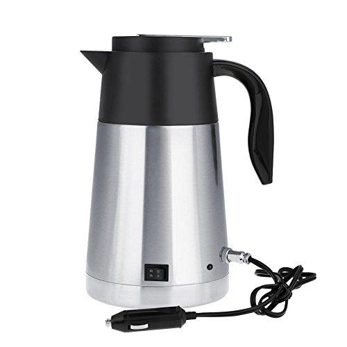 Preisvergleich Produktbild Fdit Portable Edelstahl Auto LKW Reise Wasserkocher Topf Beheizte Wasser Tasse Schnell Kochen für Tee Kaffee Milch 1300 ml(12V)