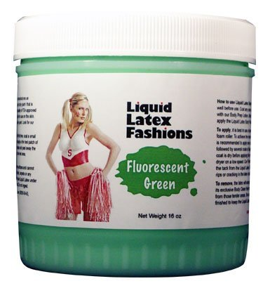 (Ammonia Free Liquid Latex Body Paint - 32oz Fluorescent Green by Liquid Latex Fashions)