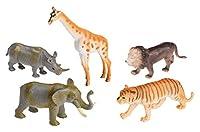 Idena 4320409 - 5 Zootiere im Beutel, 10 cm