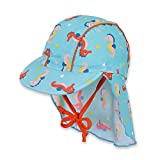 Sterntaler Schirmmütze für Jungen mit Nackenschutz, Alter: 5-6 Monate, Größe: 43, Meeresblau