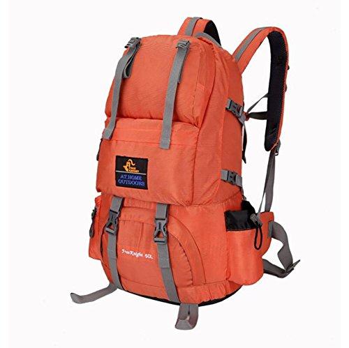 Wanderrucksack 50L Wasserdichtes Sporttasche Big Outdoor-Kapazität Taschen Bergsteigen Jagd Travel Rucksäcke 8