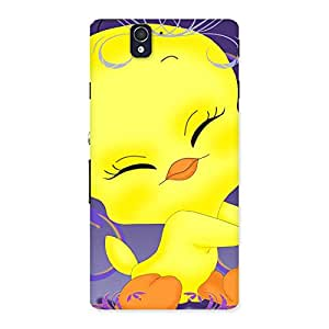 Special Yellow Tweet Back Case Cover for Sony Xperia Z